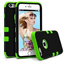 iPhone 6S Case, MagicMobile® Hybrid Rugged Rubber Hard Glossy Plastic Shell Protective Case for Apple iPhone 6S Shockproof Double Layer High Impact Armor Case Cover for iPhone 6S (2015) - Black/Green
