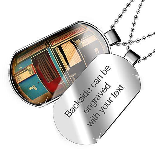 Berlin Dog - NEONBLOND Personalized Name Engraved Photo Booth in Berlin Dogtag Necklace