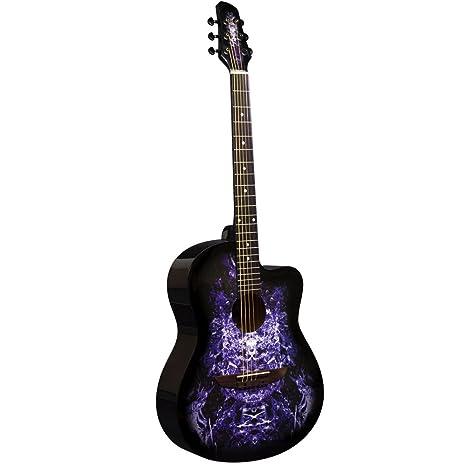 Lindo Guitars Apprentice Series 933C - Guitarra acústica (con recorte veneciano, incluye funda)