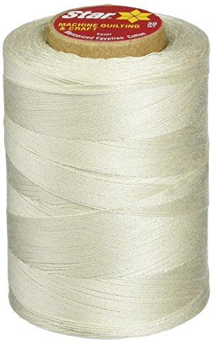 (Star Mercerized Cotton Thread Solids 1200 Yards-Silver (V37-480))
