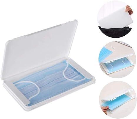 stockage de masque transparent bo/îte de masque anti-poussi/ère portable /Étui de masque organisateur de bouteille de pulv/érisation /étanche /à lhumidit/é