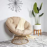 Milliard Papasan Chair with 360-degree Swivel, Tan