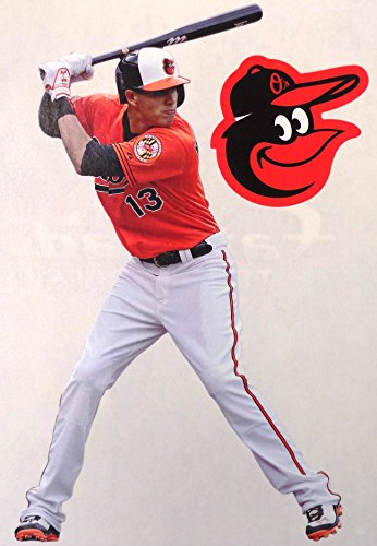 Baltimore Orioles Logo Wall Graphic (Manny Machado Mini FATHEAD + Baltimore Orioles Logo Official MLB Vinyl Wall Graphics 7