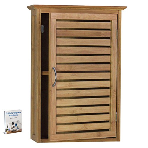 Bamboo Wall Cabinet Decorative And Functional Bedroom Den Kitchen Or Laundry Room Slat Door