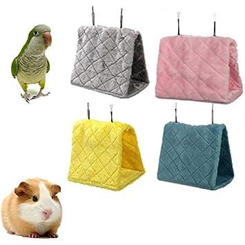 L Tamaño pájaro jaula de hámster para colgar cama hamaca Tienda de campaña cama litera juguete Parrot: Amazon.es: Productos para mascotas