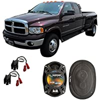 Fits Dodge Ram Truck 3500 2003-2005 Front Door Factory Replacement Harmony HA-R69 Speakers