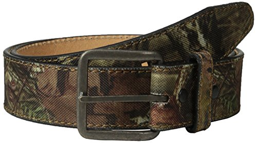 Mossy Oak Men's Camo Canvas Leather Belt, Camouflage, 42 (Belt Camoflauge)