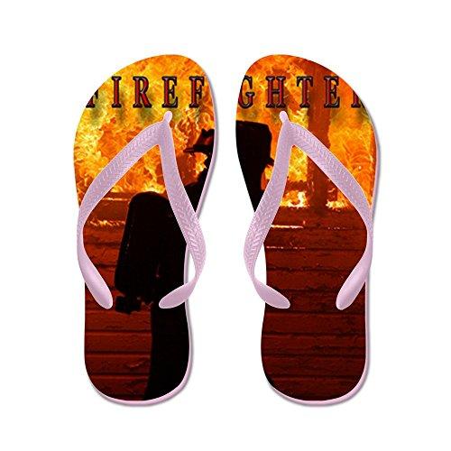 Cafepress Brandweerman - Flip Flops, Grappige String Sandalen, Strand Sandalen Roze