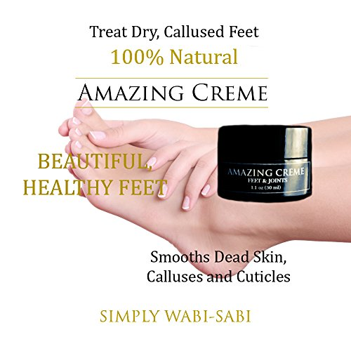 Amazing Cream Organic Foot Lotion Topical Pain Reliever Anti inflammatory Helps Heal Dead Skin Relieve Joint and Muscle Pain Smooth Dry Rough Skin Cuticles of Feet and Toes Single