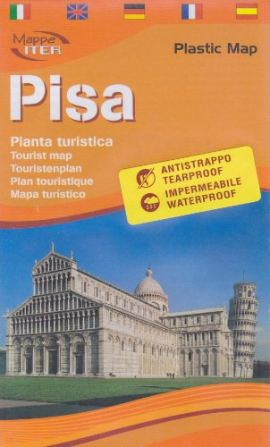 pisa-tourist-map-laminated-in-english-by-lozzi-english-spanish-french-italian-and-german-edition