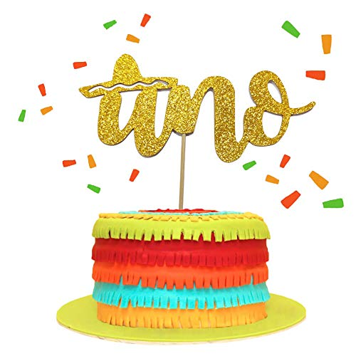 Uno Cake Topper, Fiesta Cake Topper, Fiesta First Birthday Smash Cake Kit, Fiesta Cactus Taco Party Decorations -