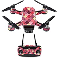 Skin for DJI Spark Mini Drone Combo - Pink Scales| MightySkins Protective, Durable, and Unique Vinyl Decal wrap cover | Easy To Apply, Remove, and Change Styles | Made in the USA