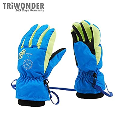 Triwonder 3-7 Years Old Kids Child Outdoor Winter Snowboard Skiing Gloves Waterproof Windproof Thermal Warm Skidproof