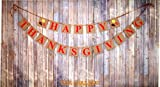 """Happy Thanksgiving"" Banner  Great Quality and Size Material: Card Stock Paper. Cards size: 6 x 4 inches.Letters Size: 4 x 4 inch Garland length when assembled approx. 180 inches. String length is 240 inches. Some assembly required  Fast Ship..."
