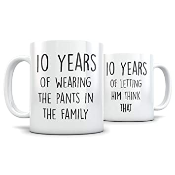 Amazon 10th Anniversary Gift For Couple Funny 10 Year Wedding