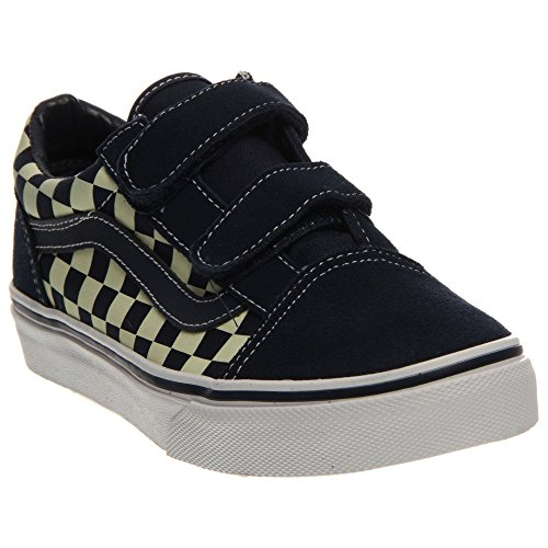 l V Shoes, Size: 11.5 M US Little Kid, Color: (Checkerboard) Dress Blues/Glow In The Dark ()