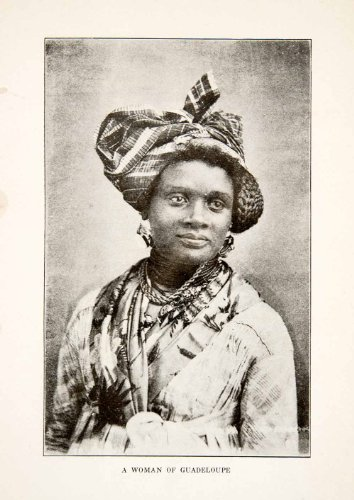 [1926 Print Native Woman Caribbean Guadeloupe Costume Resident Island Tropics - Original Halftone Print] (Tropics Costumes)