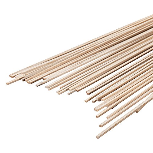 Revell Precision Sanded Unfinished Balsa Wood Sticks for Craft and Hobby Projects, 3/32 X 3/32 X 36
