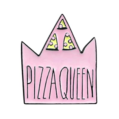 Amazon.com: litymitzromq Broche de solapa Pins, Pizza Reina ...