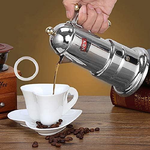 P12cheng Molinillo de café manual, acero inoxidable, italiano, moka, cafetera: Amazon.es: Hogar