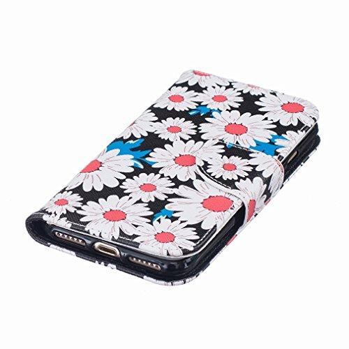 Custodia Apple iPhone 7 Plus Cover Case, Ougger Portafoglio PU Pelle Magnetico Stand Morbido Silicone Flip Bumper Protettivo Gomma Shell Borsa Custodie con Slot per Schede, Design 2