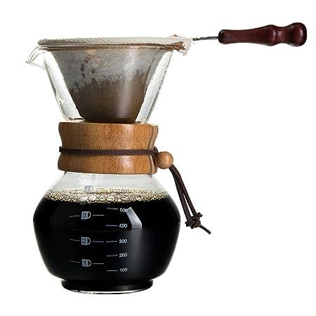 Olla de café Lavada a Mano Olla para Compartir de Vidrio con ...