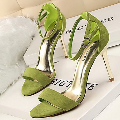 Personalizzati Rosa Lvyuan Verde Materiali Autunno Argento Stiletto Cn36 Donna Estate Uk4 Us6 Rosso Da Fibbia 12 Cm A Eu36 Tacchi Black Grigio 10 Primavera ggx nXZraXq4x