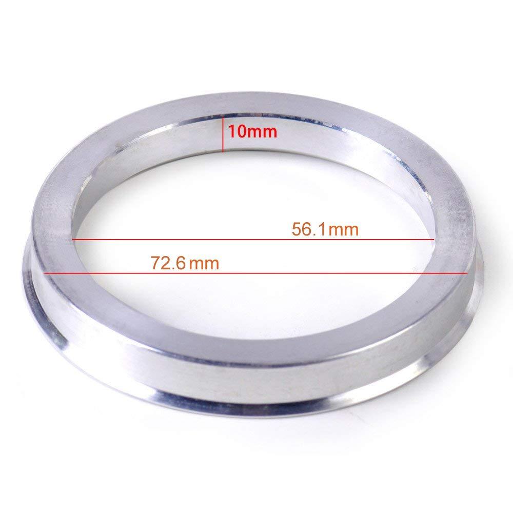 Aluminium Alloy Wheel Hubrings for Most Honda Subaru Mini ZHTEAP 4pc Wheel Hub Centric Rings 72.6 to 56.1 OD=72.6mm ID=56.1mm