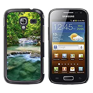 Paccase / SLIM PC / Aliminium Casa Carcasa Funda Case Cover - Nature Beautiful Waterfalls - Samsung Galaxy Ace 2 I8160 Ace II X S7560M