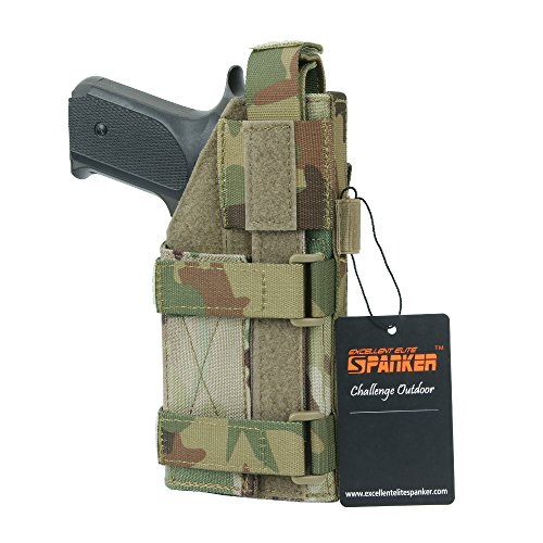(EXCELLENT ELITE SPANKER Tactical Adjustable Pistol Holster for M1911 G17 G18 G19 G26 G34 XD-45acp CZ P-10C(MCP))