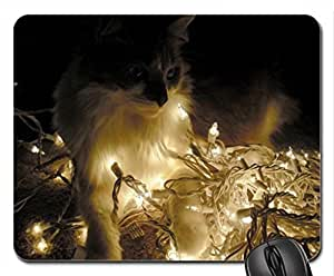 can i put the lights up Cute Cool Decorative Design Animal Cat Mousepad Rainbow Designs
