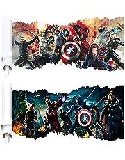 Kibi 2PCS Ironman Marvel Avengers Kids Muurstickers Muurover Wall Art Muursticker Ironman Muursticker Ironman Muursticker Iron Man