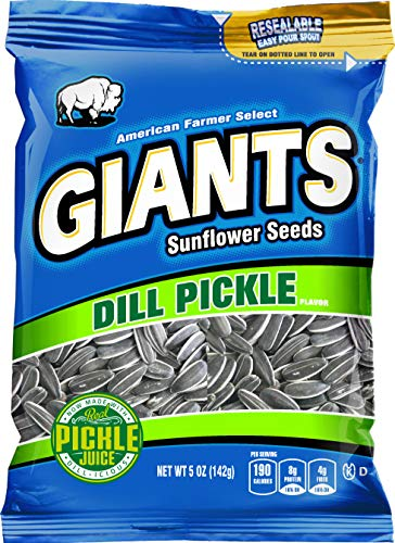 (GIANTS Sunflower Seeds Dill Pickle flavor, 5-Ounce Bags (Pack of)