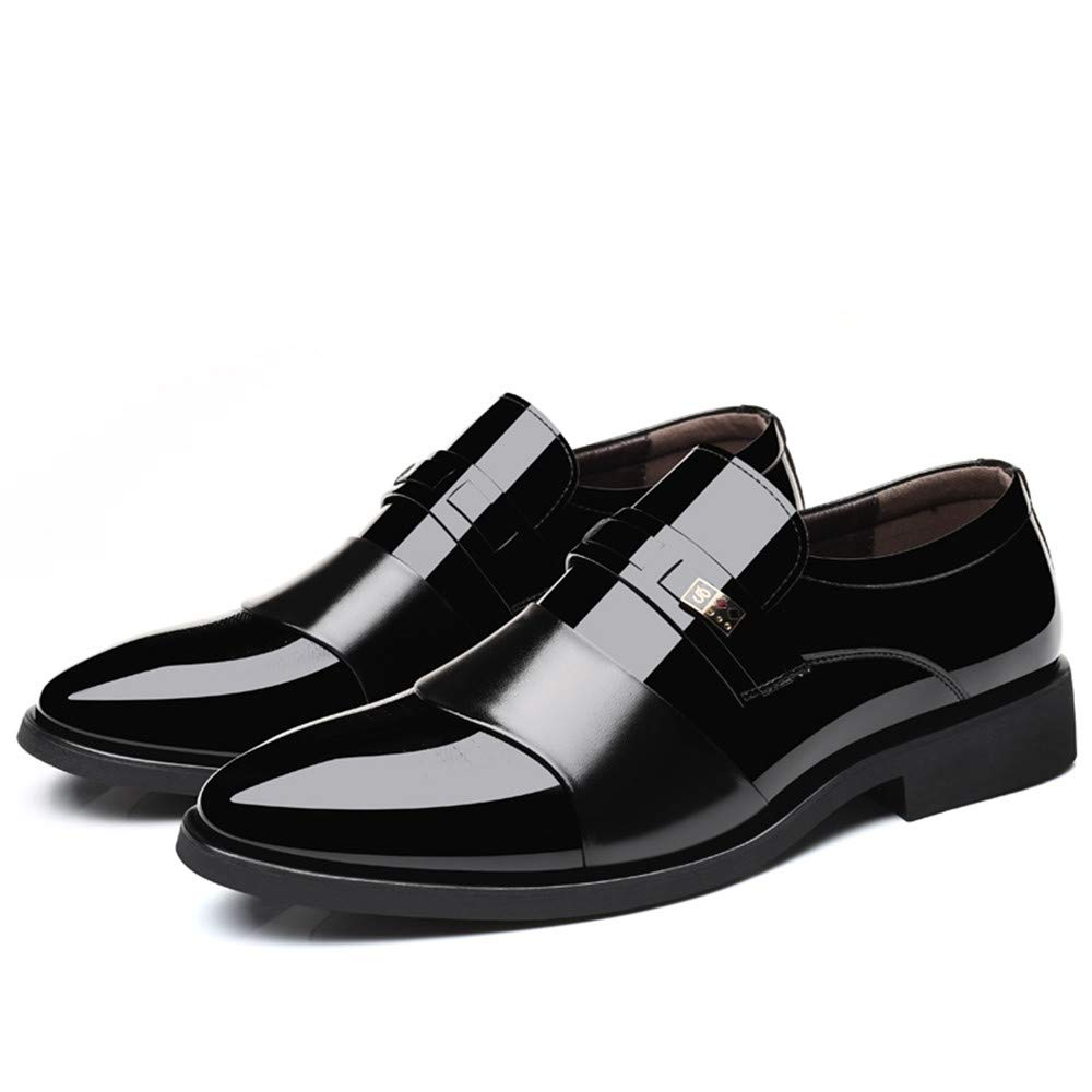 Men's Business Oxford Casual Breathes Breathes Breathes The Color British Style Pointed Patent Leather Formal Shoes 8 D(M) US|Black B07GGDH9MK e5037b