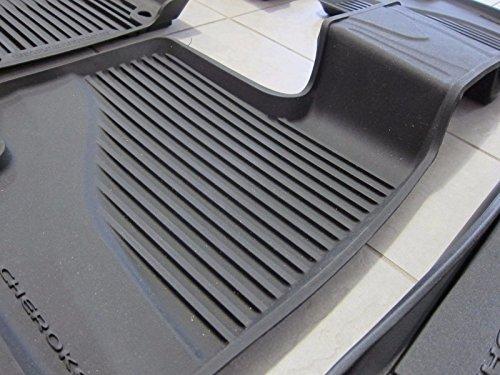 Jeep Cherokee All Weather Black Slush Mats And Cargo Tray