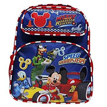 Small Backpack - Disney - Mickey Mouse - Roadster Racers Red/Blue 12