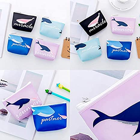 Daliuing Porta Tarjetas de cr/édito A Cartera Mini Cartera con Forma de Ballena Mini Bolsillo Porta Tarjetas de cr/édito Porta Tarjetas de cr/édito