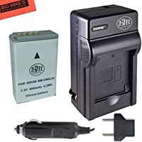BM Premium EN-EL24 Battery and Charger for Nikon 1 J5, DL18-50, DL24-85 Digital Camera