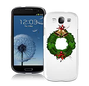 S3 Case,Christmas Jingling Bell Decoration White Silicone Samsung Galaxy S3 Case,S3 I9300 Cover Case