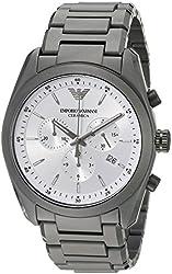Emporio Armani Men's AR1492 Ceramica Analog Display Analog Quartz Black Watch