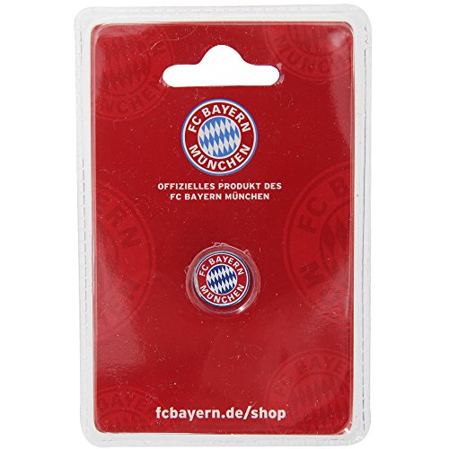 fan products of FC Bayern Munich Official Football/Soccer Crest Pin Badge (One Size) (Multicolored)