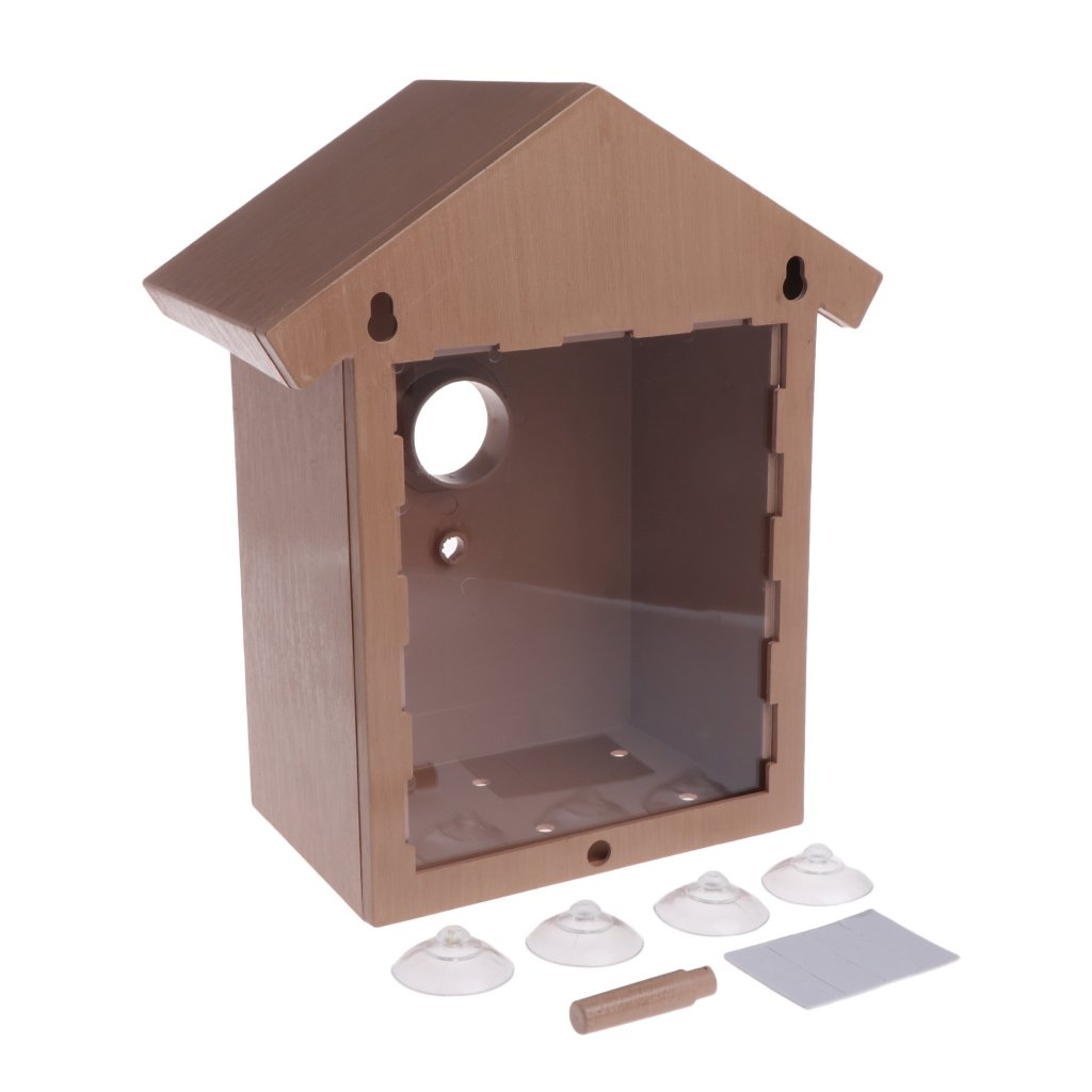STARSHINE Window Bird Breeding with Removable Tray, Drain Holes and Suction Cups. Easy to Clean. Great Gift. Guaranteed…