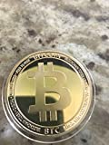 Bitcoin Commemorative Coin 2018 Model with Showcase Box and Plastic Round Display Case Set | Cryptocurrency Coin for HODL Fans | BTC Physical Token Coins | Present Ideas for Office Desk Decor