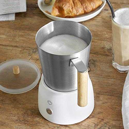 Espumador de leche electrico MIA | Milk Frother 600W | Batidor/Calentador de leche | Acero Inoxidable | 4 Programas para leche fría o caliente | 250ml ...