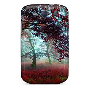 LJF phone case Cute Tpu Mialisabblake Forest Mist Case Cover For Galaxy S3