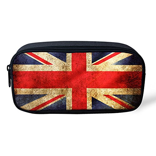 FOR U DESIGNS Fashion UK Flag Picture Pencil Boxes Back to School Gift for - Preppy Uk