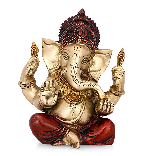 CraftVatika The Blessing Brass statue of Lord Ganesh Ganp...