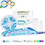 32.8Ft RGBW Smart LED Strip Lights Waterproof - Wireless Smart Phone Controlled 560 LEDs SMD 2835 Light Strip Kit Work with Alexa,Google Home Automation【Unique Light-Jelly Bean Color】