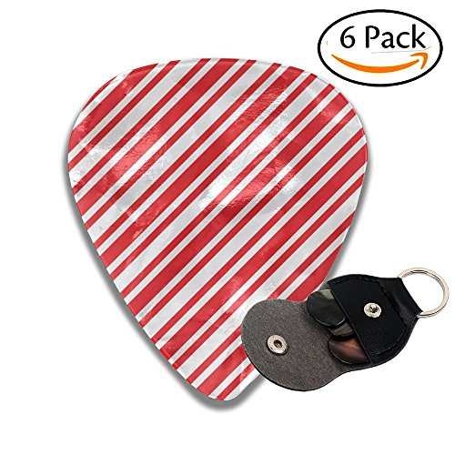 Medium Large Christmas Candy Pattern Celluloid Guitar Accessories/parts Electric Guitar Picks 0.46mm 0.71mm 0.96mm Girls 6 Packs ()