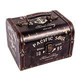 WaaHome Decorative Treasure Boxes Antique Treasure Chest Jewelry Keepsake Boxes for Kids Girls Boys Gifts,7.1''X5.6''X4.7''